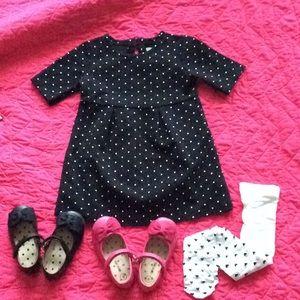 LIKE NEW | Old Navy toddler PONTE dress blk-white